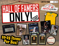 """Hall of Famers ONLY!"" Collectors Mystery Box! 15+ HOF Autographed Items Per Box!"