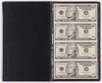 Uncut Sheet of $10 Dollar Bills United States Legal Tender Notes