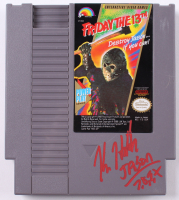 "Kane Hodder Signed Original 1988 ""Friday The 13th"" Nintendo NES Video Game Inscribed ""Jason 7, 8, 9, X"" (PA COA)"