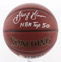 "George Gervin Signed NBA Basketball Inscribed ""NBA Top 50"" (Schwartz COA)"