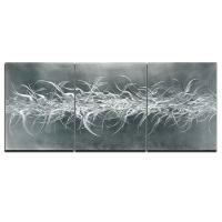 "Nicholas Yust Signed ""Electric Fields V2"" 24x60x1 Original Metallic Art"