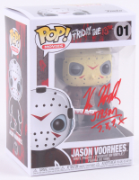 "Kane Hodder Signed Jason Voorhees #01 Funko Pop! Vinyl Figure Inscribed ""Jason 7, 8, 9, X"" (PA COA) at PristineAuction.com"
