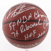 "Dennis Rodman Signed NBA Basketball Inscribed ""5x NBA Champ"", ""7x Rebound Champ"" & ""HOF 2011"" (Schwartz COA)"