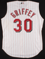 Ken Griffey Jr. Signed Cincinnati Reds Authentic Russell Athletic Jersey (UDA Hologram)
