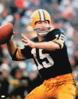 Bart Starr Signed Green Bay Packers 16x20 Photo (Mounted Memories Hologram)