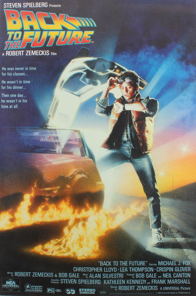 """""""Back to The Future"""" 24x36 Movie Poster at PristineAuction.com"""