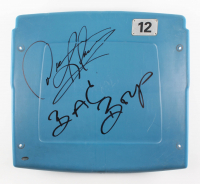 "Dennis Rodman Signed Silverdome Stadium Blue #12 Game-Used Seat Back Inscribed ""Bad Boys"" (Schwartz COA)"