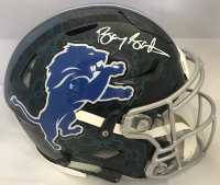Barry Sanders Signed Detroit Lions Full-Size Authentic On-Field Hydro Dipped SpeedFlex Helmet (Beckett COA & Schwartz Hologram)