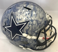 Amari Cooper Signed Dallas Cowboys Full-Size Hydro Dipped Speed Helmet (Beckett COA)