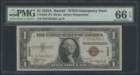 "1935A $1 One Dollar Hawaii ""Emergency Note"" Brown Seal Federal Reserve Note (PMG 66) (EPQ)"