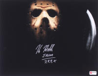 """Kane Hodder Signed """"Friday the 13th"""" 11x14 Photo Inscribed """"Jason 7, 8, 9, X""""  (PA COA) at PristineAuction.com"""