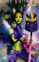"Greg Horn Signed Marvel ""Gamora & Thanos"" 11x17 Lithograph (JSA COA) at PristineAuction.com"