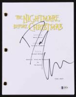 "Danny Elfman Signed ""The Nightmare Before Christmas"" Movie Script (Beckett COA)"