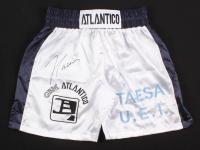 Julio Cesar Chavez Signed Boxing Trunks (JSA COA)
