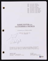 """Daniel Radcliffe Signed """"Harry Potter and the Chamber of Secrets"""" Movie Script (Beckett COA)"""