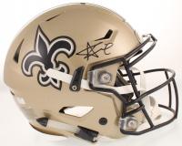Alvin Kamara Signed Saints Full-Size Authentic On-Field SpeedFlex Helmet (Radtke COA) at PristineAuction.com