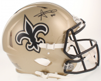"""Alvin Kamara Signed New Orleans Saints Full-Size Authentic On-Field Speed Helmet Inscribed """"ROY"""" (Radtke COA) at PristineAuction.com"""