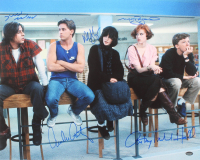 The Breakfast Club 16x20 Photo Cast-Signed by (5) with Molly Ringwald, Emilio Estevez, Judd Nelson, Anthony Michael Hall & Ally Sheedy (Schwartz COA)