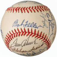 """Hall of Fame AOL Baseball Signed by (19) with Pee Wee Reese, Stan Musial, Jim """"Catfish"""" Hunter, Yogi Berra, Harmon Killebrew (Slaughter Collection LOP)"""