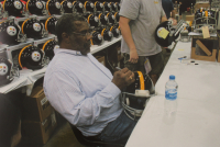 Defensive Greats Pittsburgh Steelers Full-Size Authentic On-Field Throwback Helmet Signed by (6) with Jack Ham, Jack Lambert, Andy Russell, Dermontti Dawson, Mel Blount (JSA COA) at PristineAuction.com
