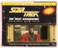 "John de Lancie Signed ""Star Trek: The Next Generation"" Original 35mm Film Cel Display (LMH Productions COA)"
