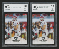 Lot of (2) 2018 Leaf Rookie Star #01 Baker Mayfield (BCCG 10)