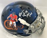 """Brian Urlacher Signed Chicago Bears Full-Size Authentic On-Field Helmet Inscribed """"HOF 2018"""" (JSA COA)"""