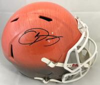 Odell Beckham Jr Signed Cleveland Browns Full Size Hydro Dipped Speed Helmet (Beckett COA)