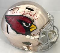 David Johnson Signed Arizona Cardinals Full-Size Chrome Helmet (Beckett COA)