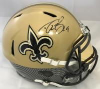 Drew Brees Signed New Orleans Saints Full-Size Authentic On-Field Hydro Dipped SpeedFlex Helmet with Visor (Beckett COA)