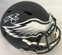 Donovan McNabb Signed Philadelphia Eagles Full-Size Matte Black Speed Helmet (Beckett COA)