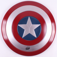 "Stan Lee Signed ""Captain America"" Marvel Full-Size Replica Plastic Shield (JSA ALOA)"