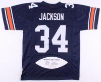"Bo Jackson Signed LE Auburn Tigers Jersey with Career Stat Football Panel Inscribed ""Heisman 85"" (JSA COA)"
