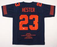 Devin Hester Signed Chicago Bears Career Highlight Stat Jersey (JSA COA)
