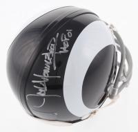 "Jack Youngblood Signed Los Angeles Rams White Throwback Mini Helmet Inscribed ""HF 01"" (Schwartz COA)"