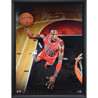 "MIchael Jordan Signed Chicago Bulls LE ""Breaking Through - Cleared for Departure""  44x60 Custom Framed Photo Display (Uppder Deck COA)"