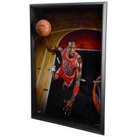 "MIchael Jordan Signed Chicago Bulls LE ""Breaking Through - Cleared for Departure""  44x60 Custom Framed Photo Display (Uppder Deck COA) at PristineAuction.com"