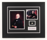 John Quincy Adams 18x22 Custom Framed Display with (1) Hand-Written Word From Letter (JSA LOA Copy)