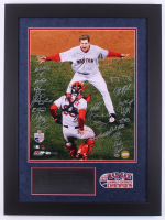 2007 Boston Red Sox World Series Champions LE 23.5x31.5 Custom Framed Photo Display Team-Signed by (23) with Curt Schilling, David Ortiz, Terry Francona, Jason Varitek, Alex Cora (Steiner COA & MLB Hologram) at PristineAuction.com