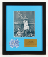 "Michael Jordan North Carolina Tar Heels ""The Shot"" 16x19 Custom Framed Photo Display with Patch"