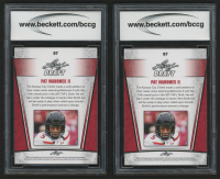 Lot of (2) 2017 Leaf Special Release Draft Silver #07 Pat Mahomes II (BCCG 10) at PristineAuction.com
