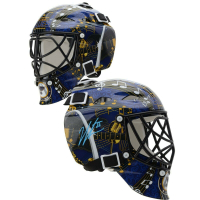 Jordan Binnington Signed Blues Mini Goalie Mask (Fanatics Hologram) at PristineAuction.com