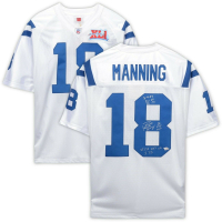 Peyton Manning Signed Indianapolis Colts Limited Edition 2006 Throwback Jersey with Multiple Inscriptions (Fanatics Hologram)
