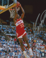 Dominique Wilkins Signed Atlanta Hawks 8x10 Photo (Schwartz Sports COA)