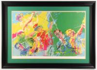 "Arnold Palmer & Jack Nicklaus Signed Leory Neiman ""Golf Greats"" 29x40 Custom Framed Print Display (JSA LOA)"