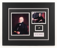 John Quincy Adams 18x22 Custom Framed Display with (1) Hand-Written Word From Letter (JSA LOA Copy) at PristineAuction.com