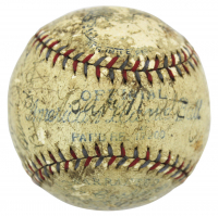 1931 New York Yankees OAL Baseball Team-Signed by (21) with Babe Ruth, Lou Gherig, Bill Dickey, Earle Combs (Beckett LOA)