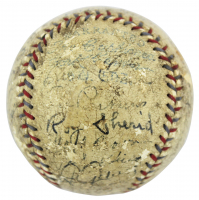 1931 New York Yankees OAL Baseball Team-Signed by (21) with Babe Ruth, Lou Gherig, Bill Dickey, Earle Combs (Beckett LOA) at PristineAuction.com