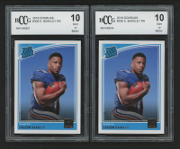 Lot of (2) 2018 Donruss #306 Saquon Barkley RR RC  (BCCG 10) at PristineAuction.com
