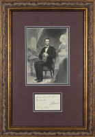 "Abraham Lincoln Signed 12x17.5 Custom Framed Cut Display Inscribed ""Submitted to Gen. Halleck"" & ""Oct. 9, 1862"" (Beckett LOA)"